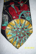 WEMBLEY MENS NAUTICAL TIE MUTINY ON THE BOUNTY 1993 59 X 4 RED TEAL GOLD
