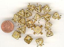 12 Vintage Gold Plated Textured Filigree Bead Caps Versatile