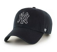 New York Yankees 47 Brand Black Clean Up Adjustable On Field Cotton Hat Cap MLB