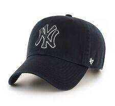 New York Yankees 47 Brand Black Clean Up Adjustable On Field Cotton Hat Cap MLB