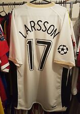 Manchester United Football Shirt 2006/07 Away XL ~ Larsson 17 Champions League