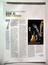 COUPURE DE PRESSE-CLIPPING : SUM 41  03/2011 Deryck Whibley,Screaming Bloody...