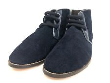 Res Ipsa Mens 12 Chukka Ankle Boots Blue Lace Up Corduroy Made In Turkey