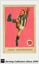 RARE -1964 VFL Scanlens Card #25 John Henderson (Collingwood)-Excellent
