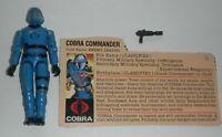 1982 GI Joe Cobra Commander Mickey Mouse Chest Logo v1 Straight Arm & File Card