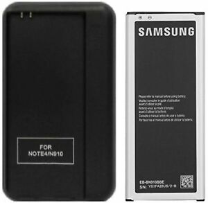 Authentic Samsung 3220mAh Battery EB-BN910 + Charger for  Galaxy Note 4 SM-N910