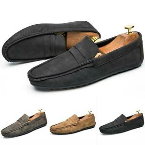 Fashion Korean Mens Driving Loafers Casual Slip On Outdoor Moccasins Soft Shoes