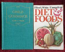 Ellen G White Duo: Child Guidance HB ~ Counsels on Diet & Foods PB EGW SDA Books