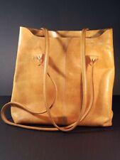 Dessa Leather Shoulder Bag 2 Compartments Zippers Key Holder Camel Color