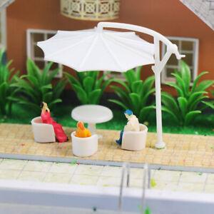 ZY11 24pcs Model Railway Layout O OO HO Scale Leisure Ball Chair Settee Sofa