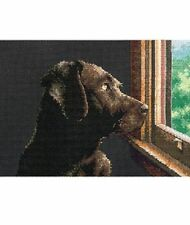 PATTERN ONLY - LAB (DOG) LOOKING OUT WINDOW COUNTED CROSS-STITCH - NO MATERIALS