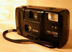 Vintage Kodak Pro-Star 111 35mm Film Camera with Electronic Flash TESTED WORKS