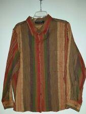 CITICRAZE Long sleeve button up blouse- Multi color- 1 pocket- cotton- Sz 2x EUC