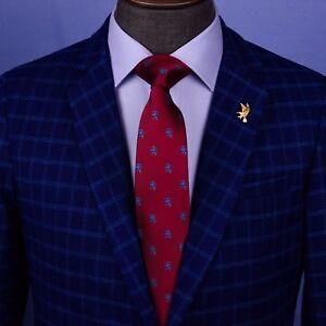 "Burgundy Lion Italian Designer Business Apparel 3.15"" Tie Professional Fashion"