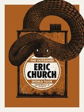 Eric Church 10/9/2014 Poster Grand Rapids MI Signed & Numbered #/20