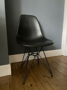 Black Eames Chair Style / Replica Dining Chairs Set Of 4