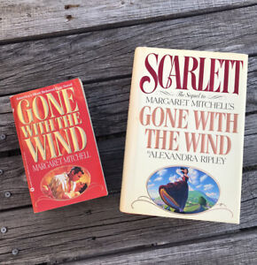 Gone with the Wind Margaret Mitchell & Scarlett By Ripley (2 books) - Good Shape
