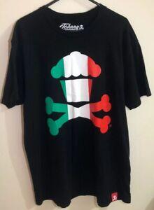 Johnny Cupcakes Crossbones Flag Series 1 Italy T-Shirt - Men's Size Medium