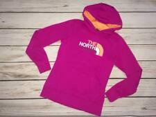 The North Face Women's Size Small Fuchsia Orange Hoodie Hooded Sweatshirt Logo
