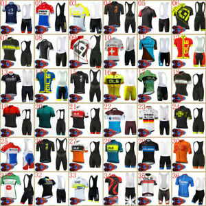 Mens Cycling Jersey Shorts Set Bike Clothing Bicycle Short Sleeve Outfit