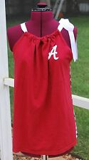 Univ of Alabama Crimson Tide Pillow Case Tank Shirt,  Houndstooth Back small
