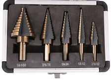 High Speed 5Pcs Cobalt Multiple Hole 50 Sizes Step Drill Steel Bit Set Tools NEW
