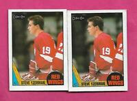 2 X 1987-88 OPC # 56 RED WINGS STEVE YZERMAN CARD (INV# C9766)