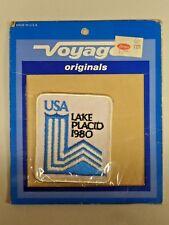 Vintage U.S.A. Olympics Embroidered Patch Lake Placid, New York 1980 NIP