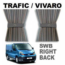 Trafic / Vivaro Curtain Kit - GREY - Right Back SWB Campervan Curtains