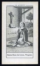 antico santino litografico- holy card S.ROSA DA LIMA