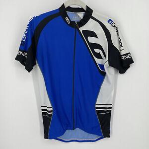 Louis Garneau Blue Cycling Jersey Bicycle Riding Shirt Men's Size M Full Zip