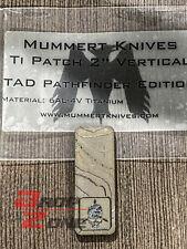 "New 2"" Vertical Titanium Patch Topo Pathfinder Triple Aught Design PDW Mummert"