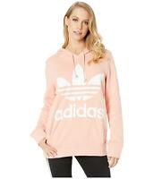 adidas Originals Women's Trefoil Hoodie Dust Pink DV2560 XS S M L XL
