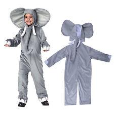 Elephant Costume Kids Animal Cosplay Baby Fancy Dress Jumpsuit Outfit + Headwear