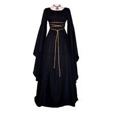 UK Women Retro Vintage Renaissance Gothic Costume Medieval Gown Dress