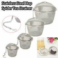Clip Filter Diffuser Tea Ball Spice Herbal Strainer Stainless Steel Mesh Infuser