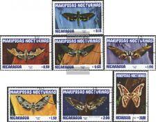Nicaragua 2376-2382 (completa Edizione) usato 1983 Farfalle