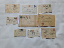 STORIA POSTALE 1907/34 REGNO LOTTO 9 DOCUMENTI TASSATI Z/2234