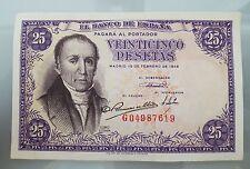BILLETE 25 PESETAS 1946 EBC+ FLÓREZ ESTRADA