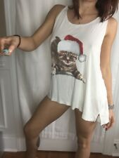 Wildfox Santa Cat Tank w/ Santa Hat, Great for Holidays! New with Tags, M