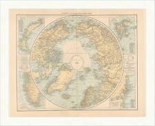 Karte der Nordpolarregion Grönland Bäreninsel Küste Island Inseln RAHX 010