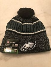 Philadelphia Eagles Beanie Cap Hat Nfl Football New Era Cuffed Knit On Field