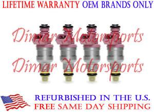 Volvo 2.3L 2.9L 960 940 240 740 Genuine BOSCH Fuel Injector Set Upgrade 4 Nozzle