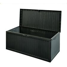 Garden Storage Box Plastic Outdoor Utility Chest Cushion Shed Lid Large 350L