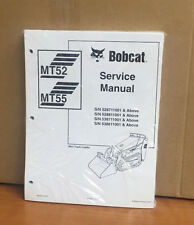 Bobcat MT52 MT55 Mini Track Loader Service Manual Shop Repair Book 6903372