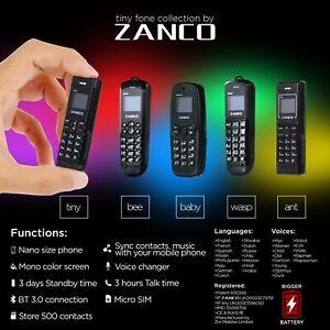 ZANCO x 5 tiny fone collection mixed zanco mini phones unlocked cell phone