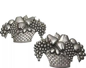 Vintage Sexton Cast Aluminum Fruit Baskets Metal Silver Color