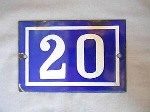 Vintage french BLUE Cobalt Enamelware Plaque SIGN n°20