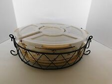 Temp-tations Old World 3 qt. Round Lid-it w/ 5 Customizable Bakers -Yellow