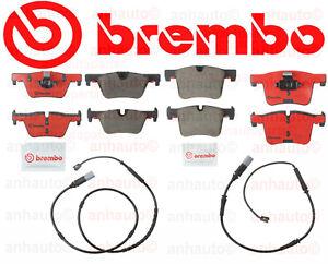 BMW F30 F31 F32 F33 320i 328D 328i 428i Front+Rear Brake Pad Set+Sensors BREMBO